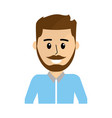 nice man with mustache design and hairstyle vector image vector image