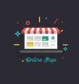 online shop online delivery service vector image
