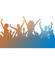 party crowd silhouette vector image vector image