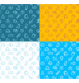pet shop signs seamless pattern background set vector image vector image