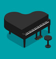 piano icon flat vector image vector image