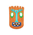 prehistoric rectangular african mask with opened vector image vector image