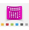 realistic design element mixer controller vector image