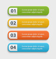 realistic Web buttons vector image vector image