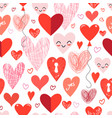 seamless holiday pattern with different loving vector image vector image