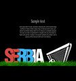 serbia and a soccer ball at the gate vector image