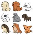 set dog vector image vector image