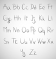 set hand draw fonts vector image