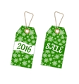 Set of Christmas labels with background from vector image vector image