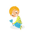 smiling girl playing with shovel for sand kid on vector image vector image