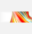 smooth liquid blur wave background color flow vector image vector image