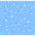 Snowflakes Seamless Pattern in Flat Design