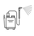 spray tool high pressure washer with sprayer vector image vector image