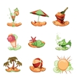 summer icon pack vector image vector image