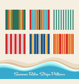 summer retro striped patterns vector image