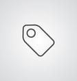 tag outline symbol dark on white background logo vector image vector image