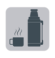 Thermos icon camping and hiking equipment vector image vector image