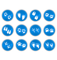 Tracks icons blue vector | Price: 1 Credit (USD $1)