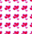Valentines daybackground with red heartsSeamless vector image vector image