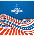 vintage independence day poster vector image