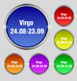 Virgo icon sign Round symbol on bright colourful vector image vector image