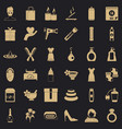 woman thing icons set simple style vector image vector image
