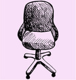 computer chair vector image
