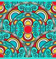 seamless texture with decorative mandala vector image