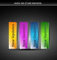 stylish colorful web buttons vector image
