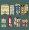 traditional european architecture old town houses vector image