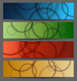 abstract bubble banner set vector image