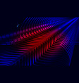 abstract technology background futuristic 3d wave vector image