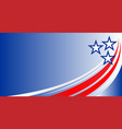 american abstract flag banner blue background vector image vector image