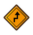 arrows guide traffic signal vector image vector image