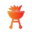 Barbecue with fire sign Orange applique isolated vector image vector image
