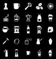 Barista icon on black background vector image