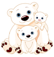 Big Polar Bear Family vector image vector image