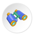 Binoculars icon cartoon style vector image vector image