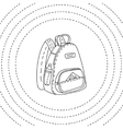 Black and white backpack hand drawn vector image vector image