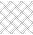 Black and white simple wooden floor parquet vector image vector image