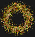 blank abstract dispersed confetti wreath vector image vector image