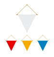 blank triangle flag hanging vector image