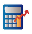 calculator with arrow up infographic degradient vector image vector image