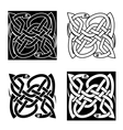 Celtic snakes arranged in traditional knot pattern vector image vector image