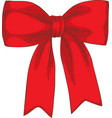 christmas decor red bow vector image