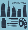 Collection of drawing tools for your design vector image vector image