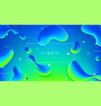 colorful web banner with abstract liquid shapes vector image vector image