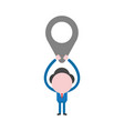 concept of faceless businessman character holding vector image vector image