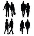 couple set silhouette vector image