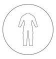 coverall icon black color in circle vector image vector image